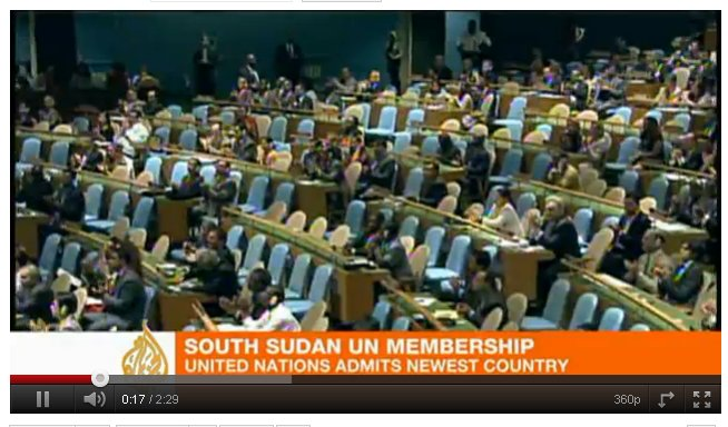 South Sudan delegation at the UN